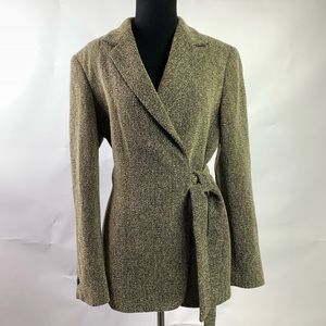 Max Mara Wrap Blazer Made in Italy size 12